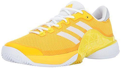 adidas Men's Barricade 2017 Tennis Shoes, Equipment Yellow/White/Lemon Peel